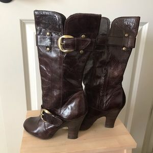 naughty monkey Shoes - Naughty Monkey brown leather boots